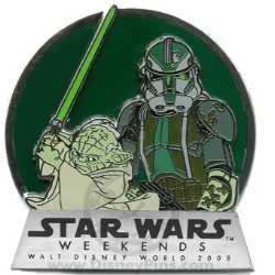 Disney Star Wars Weekends 2008 Pin - Yoda and Clone Commander Gree