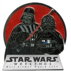 Disney Star Wars Weekends 2008 Pin - Darth Vader & TIE-Fighter Pilot