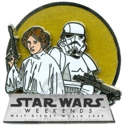 Disney Star Wars Weekends 2008 Pin - Princess Leia and Stormtrooper