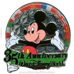 Disney White Glove Pin - 35th Anniversary - Mickey Mouse
