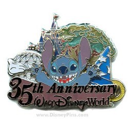 Disney White Glove Pin - 35th Anniversary - Stitch
