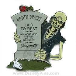 Disney White Glove Pin - Master Gracey Tombstone