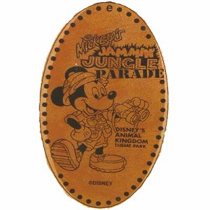Disney Pressed Penny - Animal Kingdom - Mickey Jammin Jungle Parade