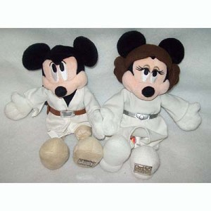 Disney Plush - Mickey & Minnie - Luke & Leia - LE 4000