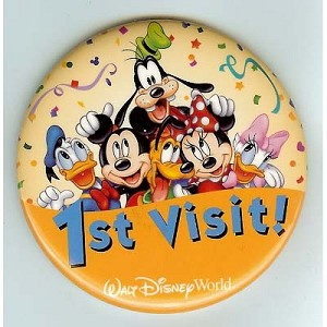 Disney Souvenir Button - Mickey And Pals - 1st Visit