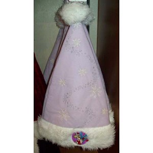 Disney Christmas Holiday Santa Hat - Tinker Bell Purple