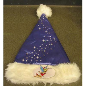 Disney Santa Christmas Holiday Hat - Tinker Bell Tinkerbell Purple