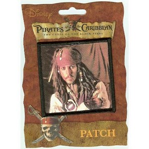 Disney Iron On Patch - Pirates of the Caribbean - Jack Sparrow