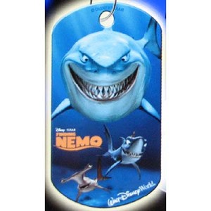 Disney Engraved ID Tag - Finding Nemo - Bruce the Shark