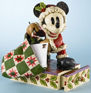 Disney Traditions by Jim Shore Big Figure - Bundle Of Holiday Cheer