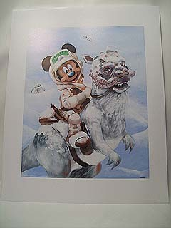 Disney Lithograph Star Wars Weekends Mickey Mouse Luke