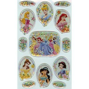 Disney Scrapbooking Stickers - Princesses and Flowers