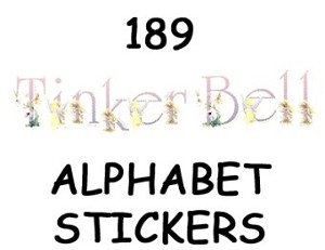 Disney Scrapbooking Stickers - Alphabet - Tinker Bell