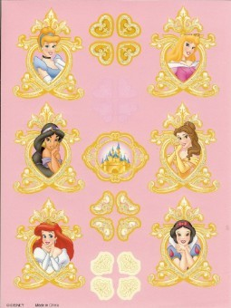 Disney Scrapbooking Stickers - Disney Princess