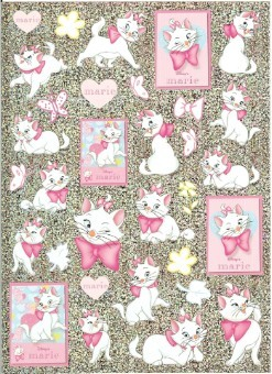 Disney Scrapbooking Stickers - Marie the Cat The Aristocats 8 x 6
