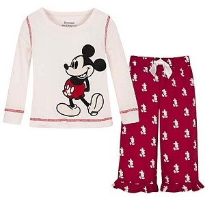 Disney Child Girls Pajamas - Christmas Mickey Mouse