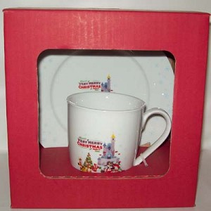Disney Plate and Mug Set - Very Merry Christmas Party 2009