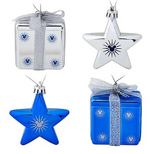 Disney Christmas Ornament Set - Shatterproof Stars and Presents