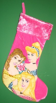 Disney Christmas Holiday Stocking - Princess Trio