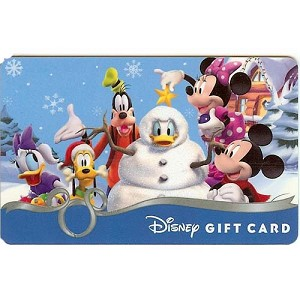 Disney Collectible Gift Card - Holiday Mickey Friends Snowman