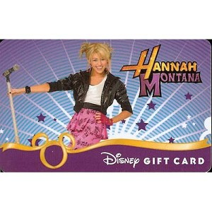 Disney Collectible Gift Card - Hannah Montana - Rock the Stage