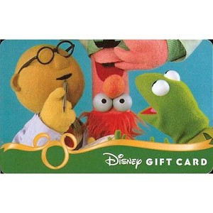Disney Collectible Gift Card - The Muppets Next Experiment