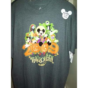 Disney Adult Shirt - 2009 Halloween Mickey Mouse Logo