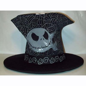 Disney Hat - Jack Skellington Skull Top Hat with Skulls