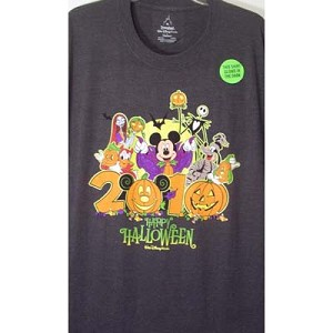 Disney Adult Shirt - 2010 Halloween Logo - Grey