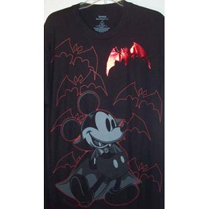 Disney Adult Shirt - Vampire Mickey Mouse - Black