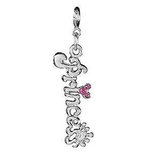Disney Charm - Sterling Silver Princess Crown Mickey Mouse