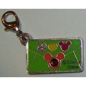 Disney Dangle Charm - ENVELOPE PEACE