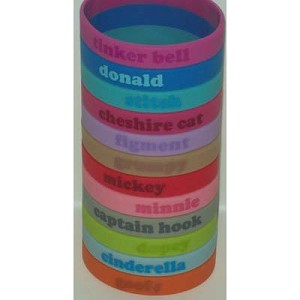 Disney Character Name Rubber Bracelet