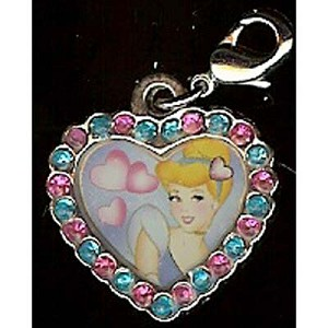 Disney Dangle Charm - Cinderella Jeweled Heart