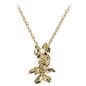 Disney Necklace - 14-Kt. Gold and Diamond Minnie Mouse