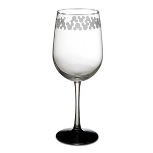 Disney Wine Glass - Etched Mickey Mouse - 9''