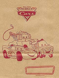 Disney Lunch Bag - Brown - Pixar - Cars