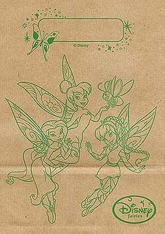Disney Lunch Bag - Brown - Disney Fairies
