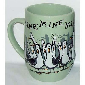 Disney Coffee Cup Mug - Finding Nemo - Mine Mine Mine - Green