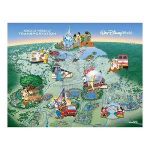 Disney Pursuit Illustration - Magical World of Transportation