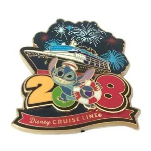 Disney Stitch Pin - Disney Cruise Line 2008