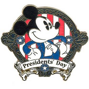 Disney Presidents Day Pin - 2010 - Mickey Mouse