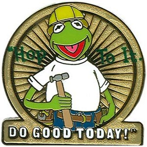 Disney Give A Day Pin - Muppet - Kermit the Frog