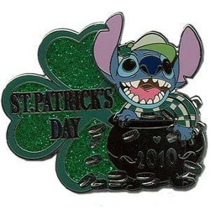 Disney St.Patrick's Day Pin - Stitch