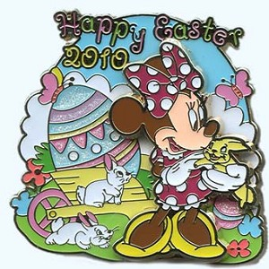 Disney Easter Pin - 2010 - Minnie Mouse