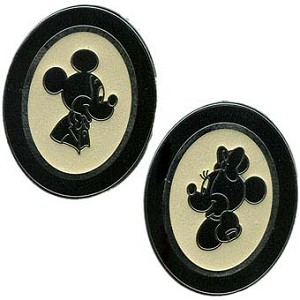 Disney Mickey and Minnie Pin Set - Silhouettes