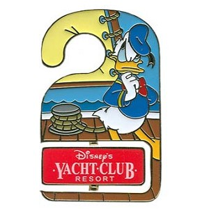Disney Resort Pin - Do Not Disturb - Yacht Club - Donald