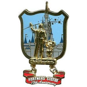 Disney World Pin - Partners Statue - 15th Anniversary