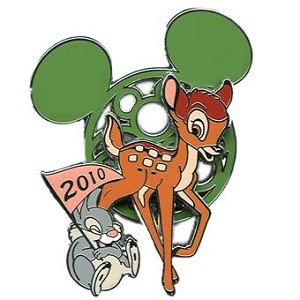 Disney Mickey Mouse Icon w / Character Pin - Bambi and Thumper