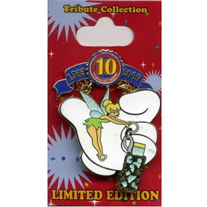 Disney Pin Trading 10th Anniversary Pin - Tribute - Tinker Bell Pixie Dust